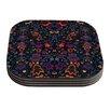 KESS InHouse Bali Tapestry by Nikki Strange Dark Coaster (Set of 4)