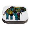 KESS InHouse Elephant of Namibia by Pom Graphic Design Coaster (Set of 4)