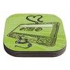 KESS InHouse Mixtape by Sam Posnick Coaster (Set of 4)