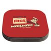 KESS InHouse Be Nice To The Mailman by Roberlan Coaster (Set of 4)