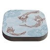 KESS InHouse Koi by Sam Posnick Coaster (Set of 4)