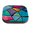 KESS InHouse Stain Glass 2 by Theresa Giolzetti Coaster (Set of 4)