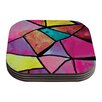 KESS InHouse Stain Glass 3 by Theresa Giolzetti Coaster (Set of 4)