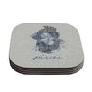 KESS InHouse Pisces by Belinda Gillies Coaster (Set of 4)
