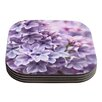 KESS InHouse Lilac by Sylvia Cook Coaster (Set of 4)