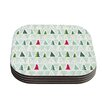 KESS InHouse Pining for Christmas by Allison Beilke Christmas Holiday Coaster (Set of 4)