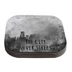 KESS InHouse The City Never Sleeps by Alison Coxon Coaster (Set of 4)