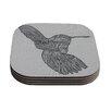 KESS InHouse Hummingbird by Belinda Gillies Coaster (Set of 4)