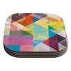 KESS InHouse Color Blocking II by Mareike Boehmer Coaster (Set of 4)