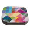 KESS InHouse Color Blocking by Mareike Boehmer Coaster (Set of 4)