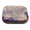 KESS InHouse Pretty Amazing by Rachel Burbee Coaster (Set of 4)