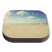 KESS InHouse Adventure is Out There by Sylvia Cook Coaster (Set of 4)