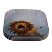 KESS InHouse Dandy Lion by Rachel Kokko Coaster (Set of 4)