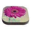 KESS InHouse Pretty Daisy by Nastasia Cook Flower Coaster (Set of 4)