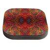 KESS InHouse Red Sea by Nikposium Coaster (Set of 4)