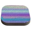 KESS InHouse Drip Dye Cool Strid by Nina May Coaster (Set of 4)