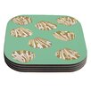 KESS InHouse Scallop Shells by Rosie Coaster (Set of 4)