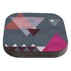 KESS InHouse Geo II by Suzanne Carter Gray Geometric Coaster (Set of 4)