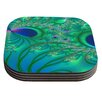 KESS InHouse Fractal by Alison Coxon Coaster (Set of 4)