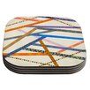 KESS InHouse Unparalleled by Pom Graphic Design Coaster (Set of 4)