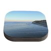 KESS InHouse Sand Surf Sunshine by Robin Dickinson Coaster (Set of 4)
