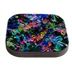KESS InHouse Flora Splash by Gabriela Fuente Dark Rainbow Coaster (Set of 4)