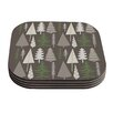 KESS InHouse Happy Forest Coaster (Set of 4)