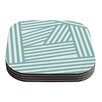 KESS InHouse Stripes by Louise Machado Coaster (Set of 4)