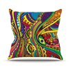 KESS InHouse Doodle by Roberlan Rainbow Abstract Throw Pillow