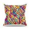 KESS InHouse Buracos by Roberlan Abstract Throw Pillow
