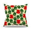 KESS InHouse No More Peonies by Sreetama Ray Throw Pillow