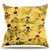 KESS InHouse Pantone by Debbra Obertanec Flower Daisy Throw Pillow