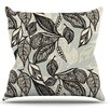 KESS InHouse Java Leaf by Gill Eggleston Throw Pillow