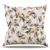 KESS InHouse Fuchsia on the Wind by Akwaflorell Throw Pillow