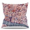 KESS InHouse City Of London by Alison Coxon Map Throw Pillow