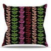 KESS InHouse Garden Vine and Leaf by Jane Smith Rainbow Vines Throw Pillow