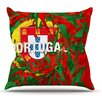 KESS InHouse Portugal by Danny Ivan World Cup Throw Pillow