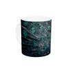 KESS InHouse Majestic by Ann Barnes 11 oz. Peacock Feather Ceramic Coffee Mug