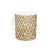 KESS InHouse Geo Tribal Mustard by Amanda Lane 11 oz. Aztec Ceramic Coffee Mug