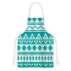 KESS InHouse Turquoise Aztec by Belinda Gilles Green Artistic Apron