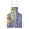 KESS InHouse Stained Glass Watercolor Peacock by Catherine Holcombe Artistic Apron