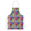 KESS InHouse Pussy Cat I Love You by Bruce S field Rainbow Artistic Apron