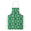 KESS InHouse Silver and Green Abstract by Empire Ruhl Green Artistic Apron