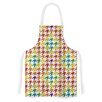 KESS InHouse Rainbow Houndstooth by Empire Ruhl Artistic Apron