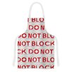 KESS InHouse DO NOT BLOCK by Heidi Jennings White Artistic Apron