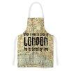 KESS InHouse London Type by Alison Coxon Map Artistic Apron