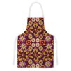 KESS InHouse Indian Jewelry Floral by Jane Smith Purple Artistic Apron