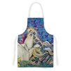 KESS InHouse Peonies and Crane by Kira Crees Green Artistic Apron