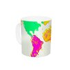 KESS InHouse My World by Oriana Cordero 11 oz. Rainbow Map Ceramic Coffee Mug