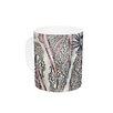KESS InHouse Inky Paisley Bloom by Sonal Nathwani 11 oz. Ceramic Coffee Mug